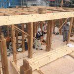 中山の家『土台敷き込み』『建て方』