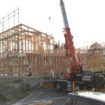 坂之上の家『建て方~防水工事』